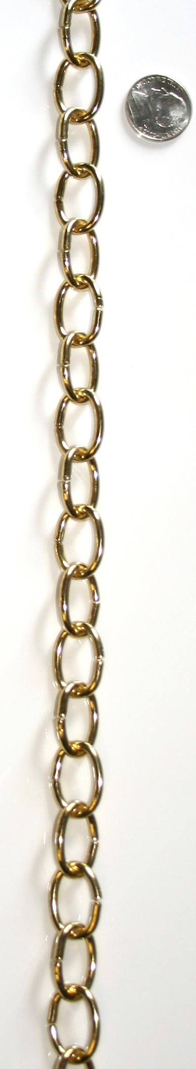 pin chain chandelier rectangle rounded brass chains