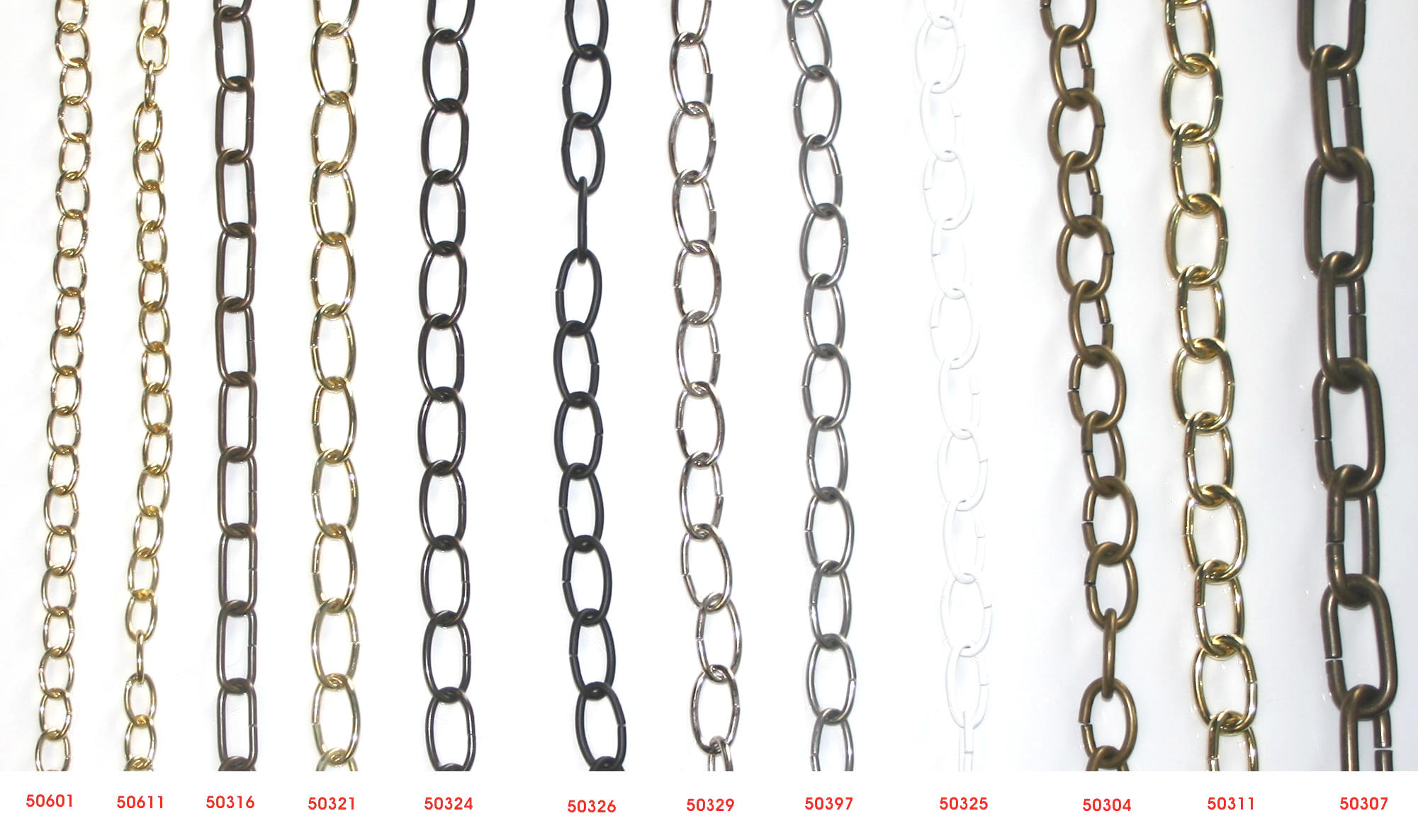 Plated and Coated Steel Chains for Chandeliers Highland Lighting