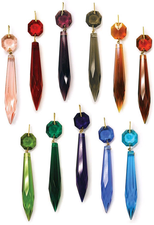 Colored prisms and pendalogues for chandeliers highland lighting aloadofball Images